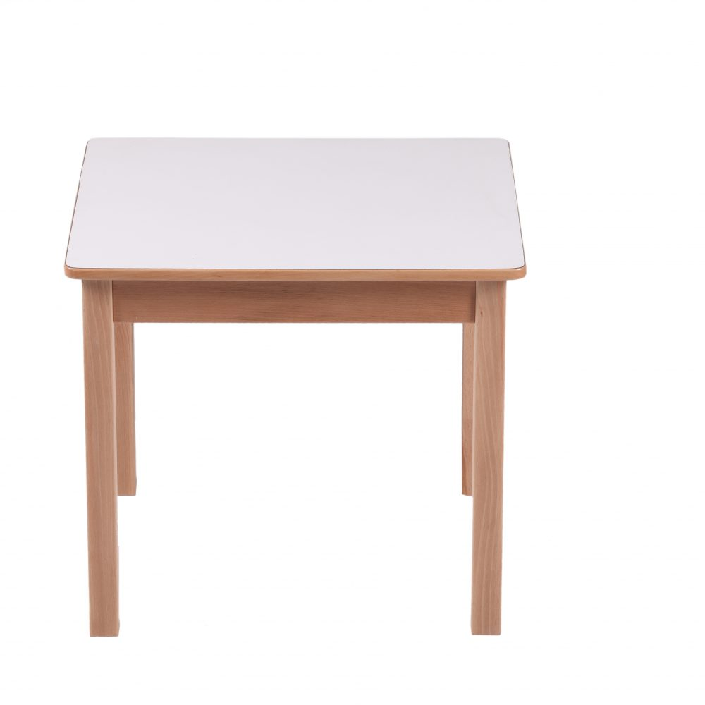 Singapore wooden square table